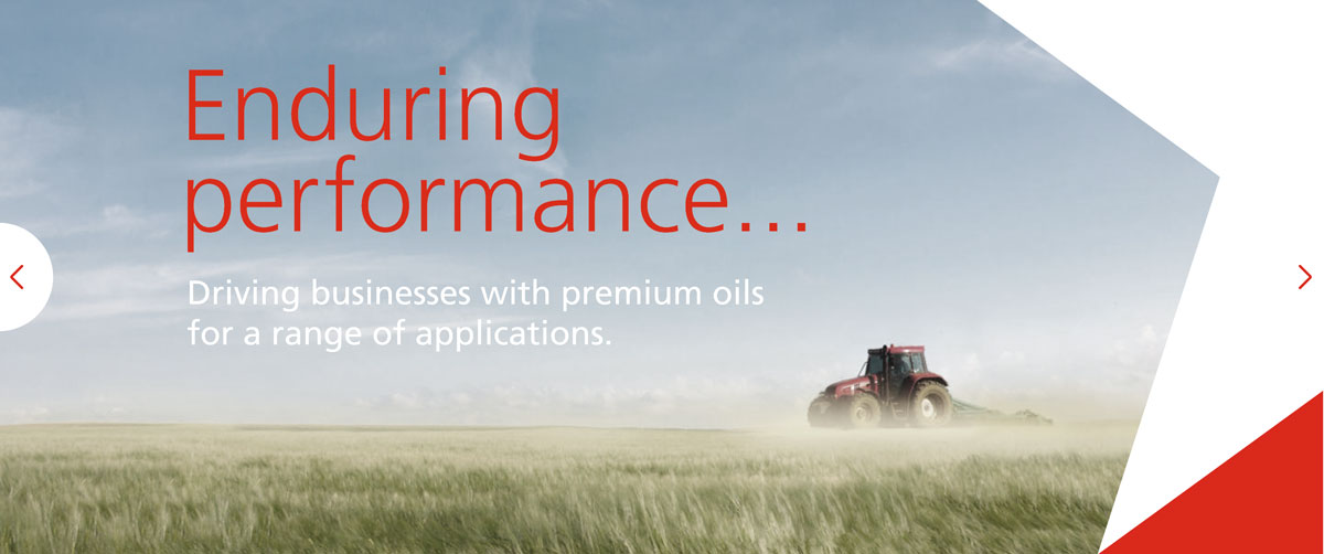 enduring performance… Driving businesses with premium oils for a range of applications.